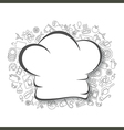 Cooking kitchen and food background vector image vector image