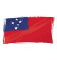 grunge Samoa flag vector image