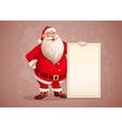 Merry Santa Claus standing vector image