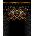 golden ornate frame for design - vector image