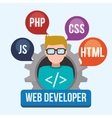 Web developer design vector image