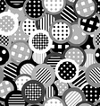 Black and white background with circles vector image vector image