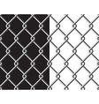 Steel mesh metalic fance black and white vector image