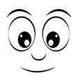 face emoticon isolated icon design vector image