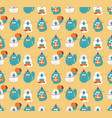 birthday cats seamless pattern vector image
