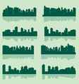 city lanscape set vector image
