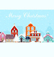 in flat style snowy night in vector image