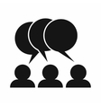 People with dialog speech bubbles icon vector image
