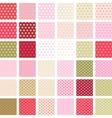 Seamless abstract retro pattern Set of 36 polka vector image