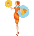 summer shopping vector image