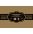 Vintage frame label Gold sticker bottle beer vector image