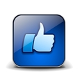 Thumbs up button - like icon vector image
