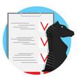 strategy checklist icon vector image vector image