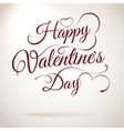 Valentines day vintage lettering EPS 10 vector image