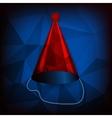 Red birthday cap vector image