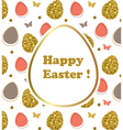 Decorative Easter background vector image vector image