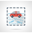 Flood flat color design icon vector image