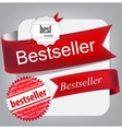 Bestseller Red banners vector image vector image