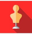 Dressmakers model icon in flat style vector image vector image