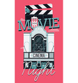 Movie Night Banner vector image