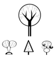 black and white decorative trees vector image