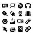 Computer Icons Set on White Background vector image