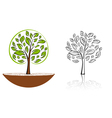 tree emblem 6 vector image