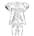 Vintage Hand Drawn Gentleman Men s clothing vector image