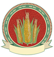 Corn label retro image vector image vector image