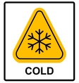 Cold warning sign  snow warning - triangular sign vector image
