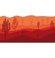 Isolated desert landscape design vector image