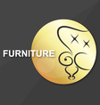 Symbol for vintage furniture vector image