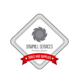 Sawmill label object vector image