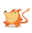 Walking Round and cute fox Mascot Character with vector image
