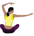 yoga silhouette vector image vector image