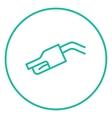 Gasoline pump nozzle line icon vector image