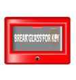 break glass for key vector image
