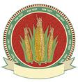 Corn label retro image vector image