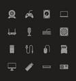 hardware - flat icons vector image