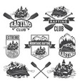 labels for sport club of extreme dangerous water vector image