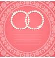 Ornamental background for wedding invitation vector image