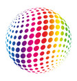 rainbow spectrum sphere abstract vector image