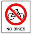 No bicycle sign No bikes symbol for public places vector image