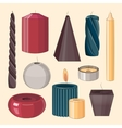 Candles icon set vector image