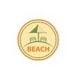 logo beach vector image vector image