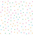 colorful circle seamless pattern on white vector image