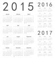 European 2015 2016 2017 year calendars vector image