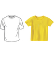 Tshirt set vector image