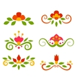 set of floral fairy separators in flat style vector image