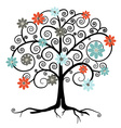 Tree in Blossom Isolated on White Background vector image